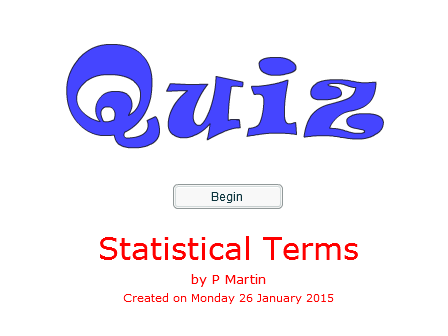 Statistical Terms Starter and Plenary