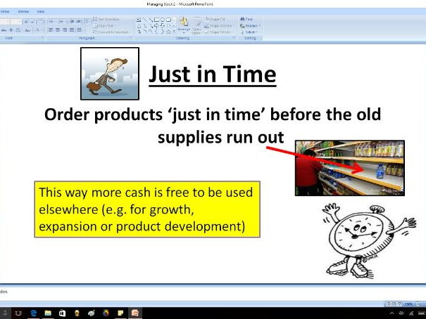 Managing stock (JIT and JIC) - GCSE Business