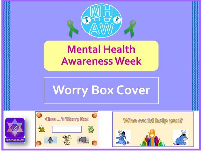 Mental Health Awareness Week 2018 Worry Box Cover
