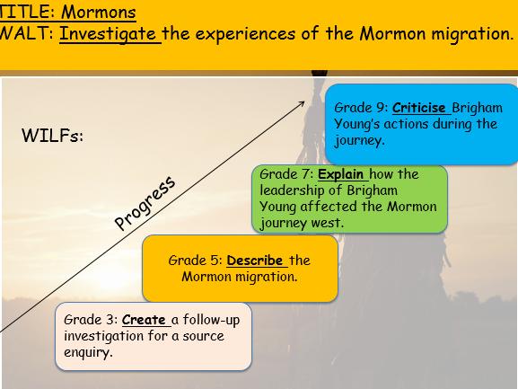 American West (Edexcel 9-1 GCSE History)  - Mormons Bundle