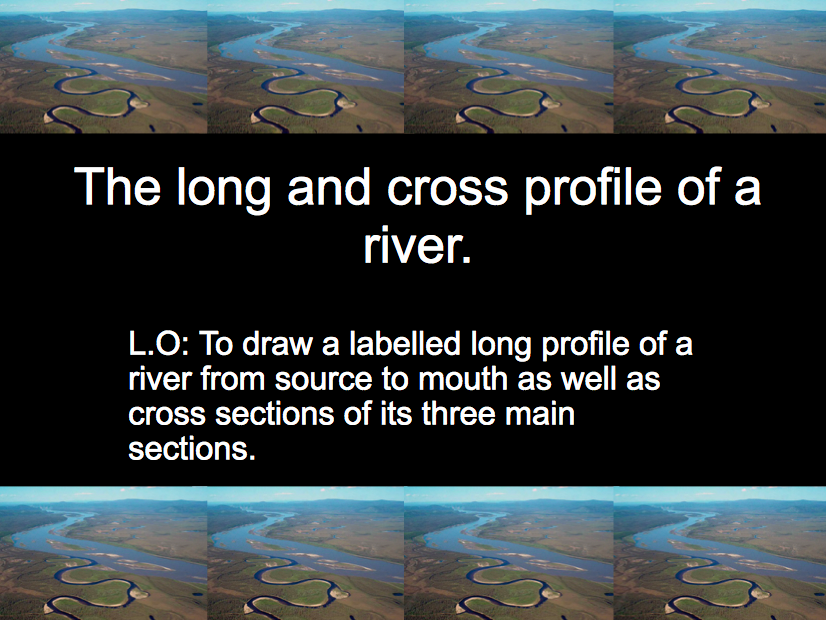 AQA GCSE Geography: Water on the Land - Lesson 2: Long Profile of a River