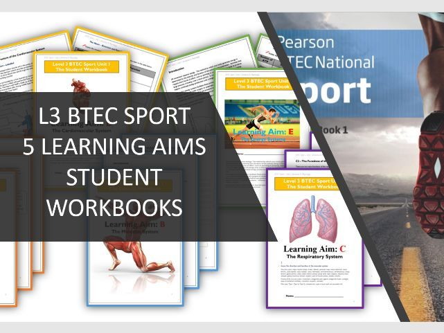 Level 3 UNIT 1 x5 BTEC Sport Student Workbooks: Unit 1 - Anatomy and Physiology