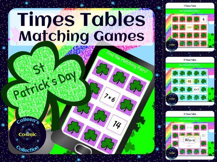 Multiplication Facts Digital Activity – St Patricks Day