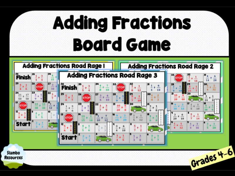 Adding Fractions Board Game