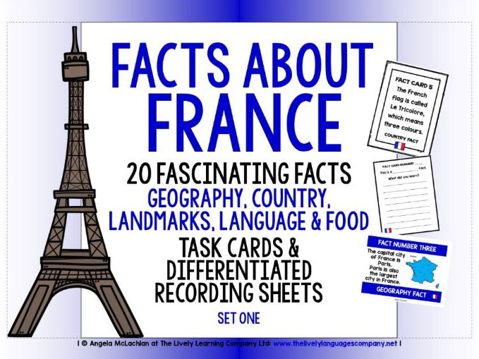 FRENCH FOR CHILDREN FACTS TASK CARDS, RECORDING SHEETS, DISCUSSION ACTIVITY (1)