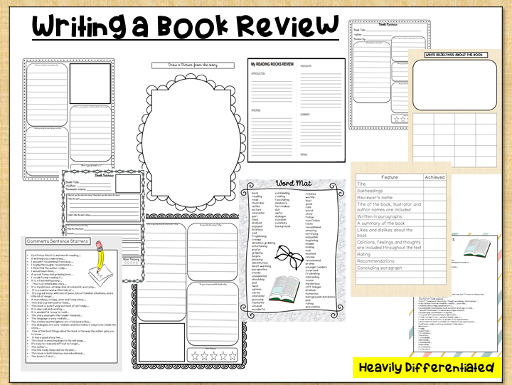 Differentiated: Writing a Book Review