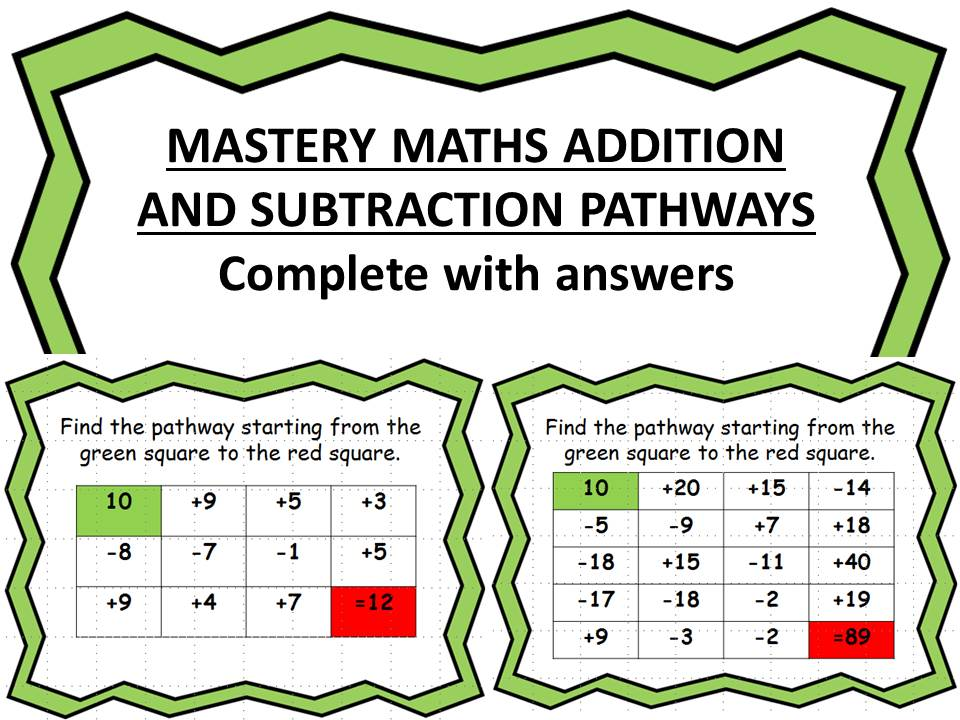 MASTERY MATHS ADDITION AND SUBTRACTION PATHWAYS