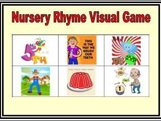 Nursery Rhymes Visual Game EYFS and KS1 Set 3