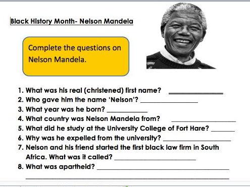 Black History Month: Nelson Mandela