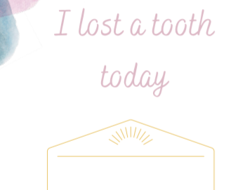Today I Lost a Tooth Card