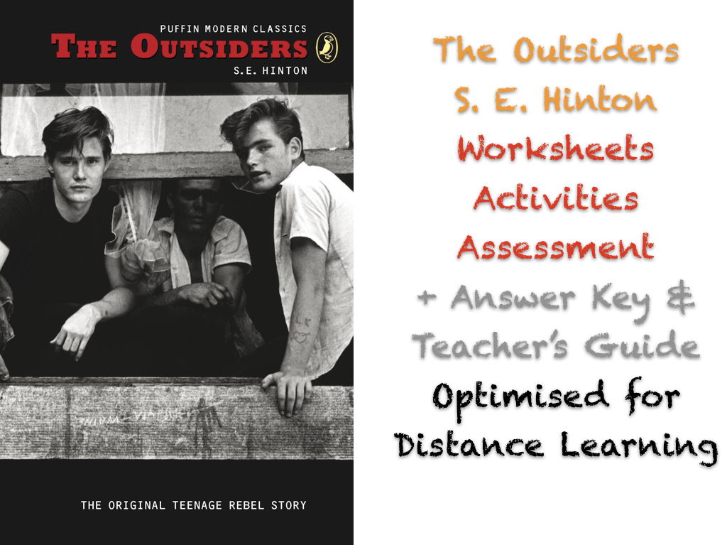 The Outsiders (S. E. Hinton) - COMPLETE NO PREP ACTIVITIES + ANSWERS + DL-BUNDLE