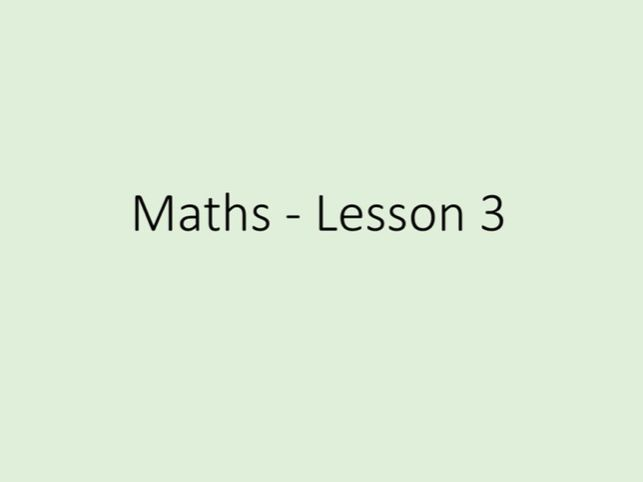 Maths GCSE - Numbers, Tuition Lesson 3 of 5 (Power Point)