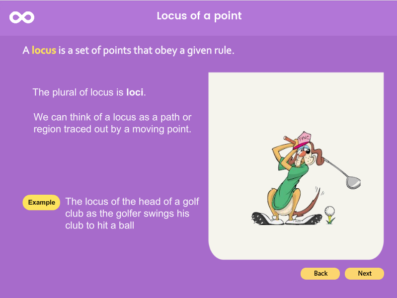 Locus of a Point - GCSE