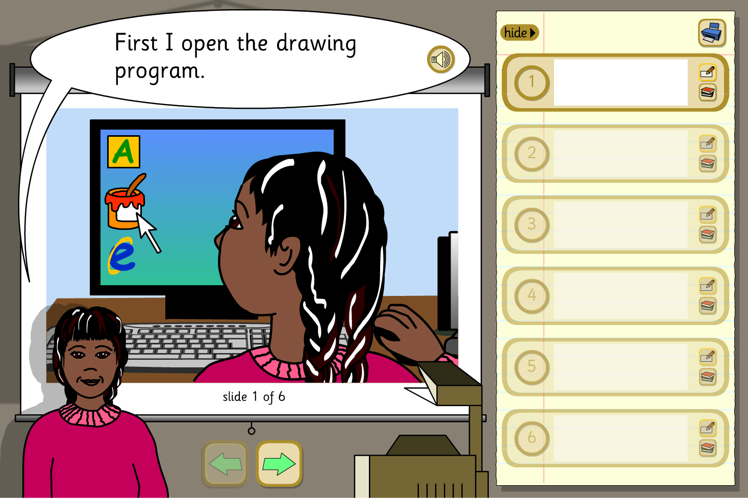 Create a Presentation Activity - Making a Picture on the Computer - KS1 Literacy