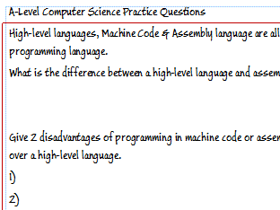 A-Level Computer Science - Exam Style Questions (CPU, Logic Gates, Big Data, Databases, Programming)