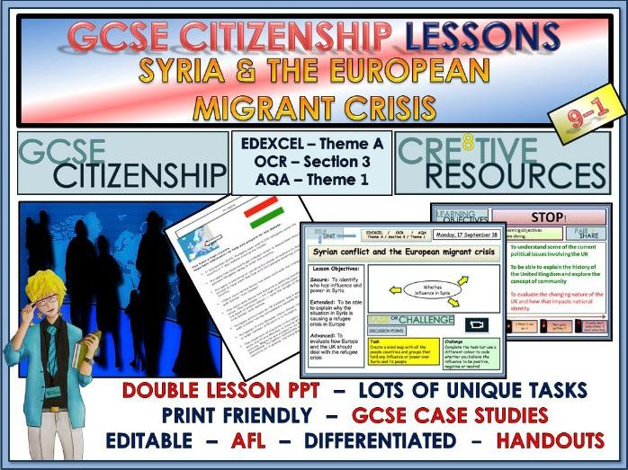 Lessons - Syria and the European Migrant Crisis - GCSE Citizenship 9-1
