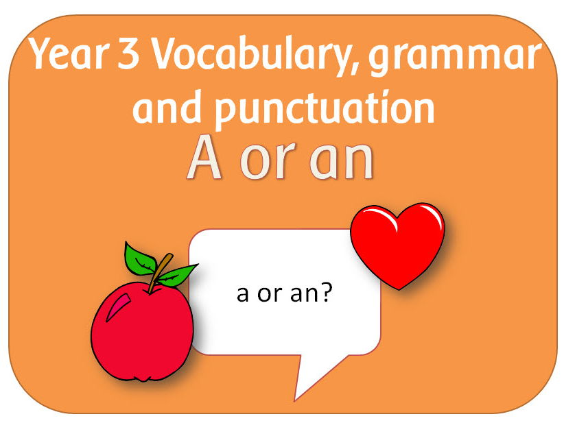 SPaG Year 3 Grammar: Use of the forms a or an