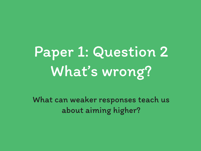 AQA Language Paper 1 Q2 MODEL RESPONSES