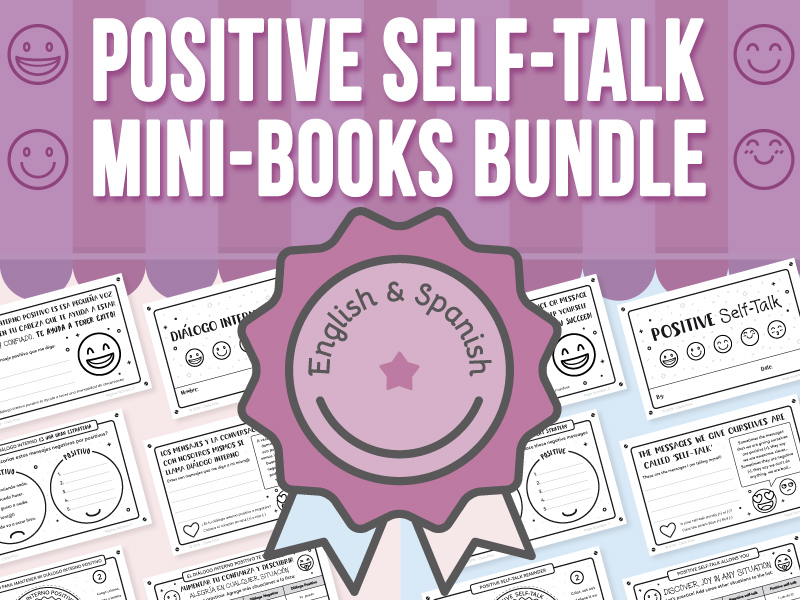 Positive Self-Talk Mini-Books With Emojis BUNDLE