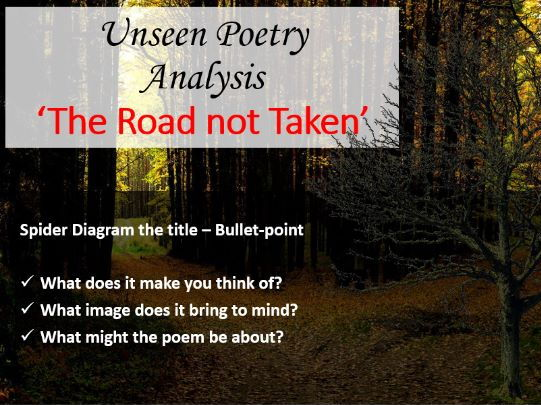 Unseen poetry the road not taken by robert frost by cover image ccuart Choice Image