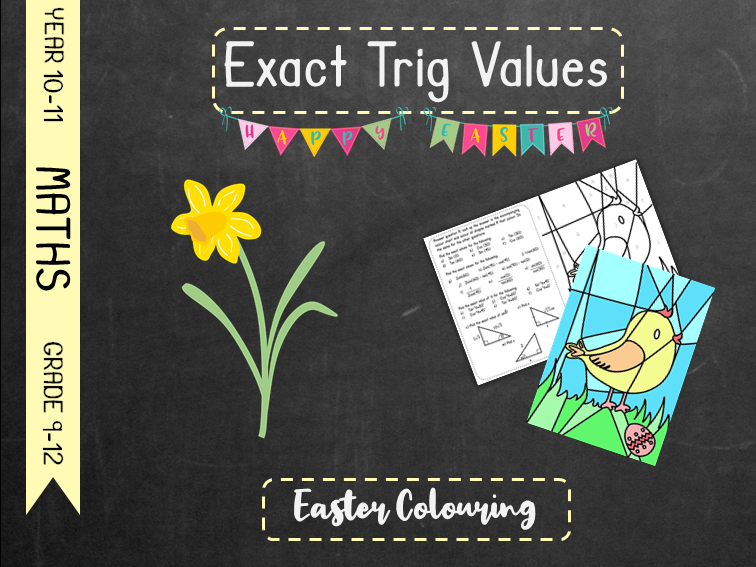 Exact Trig Values - Easter Colouring