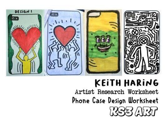 KS3 Art Keith Haring 2 Worksheets