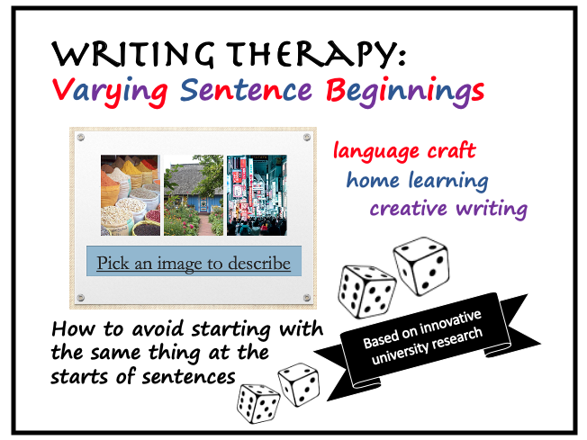 Home Writing Therapy:Varying Sentence Beginnings