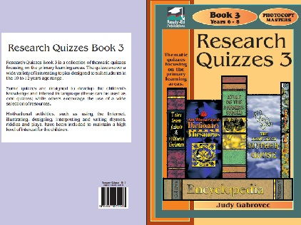 Research Quizzes Book 3 - Thematic quizzes focusing on the primary learning areas - For years 6 - 7