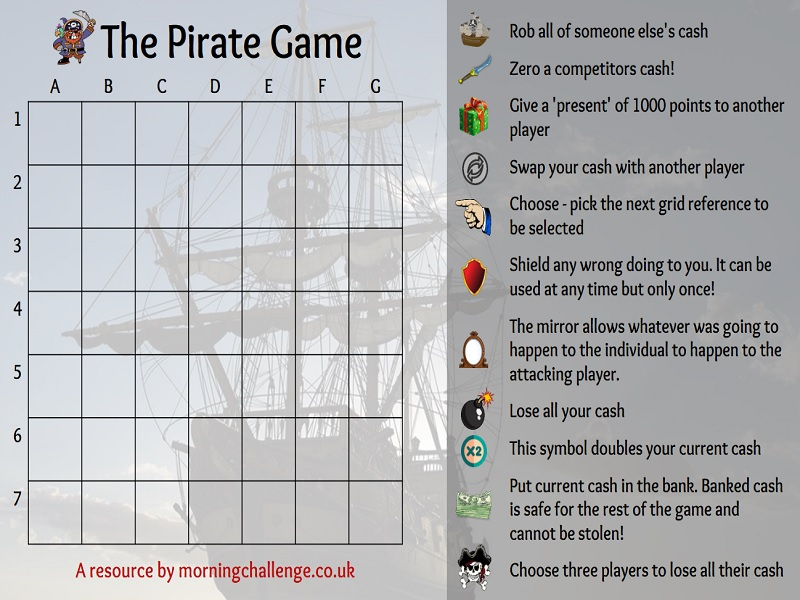 The Pirate Game - Paper free Version!
