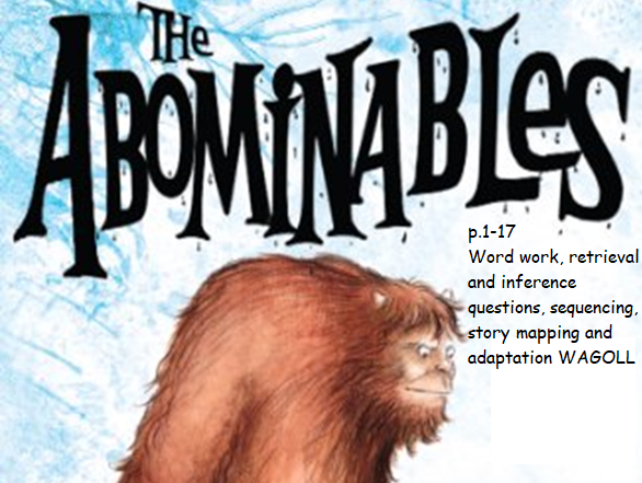 Y3 / Y4 The Abominables guided reading pack (3 weeks)