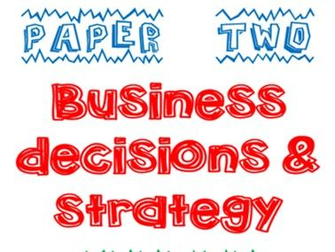 Edexcel A Level Business Paper 2 Model Essays