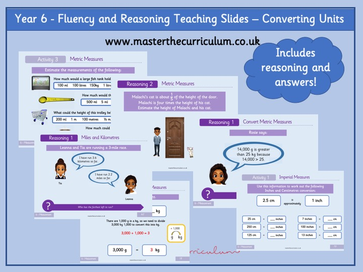 Year 6 - Converting Units of Measurement Teaching Slides - White Rose Style