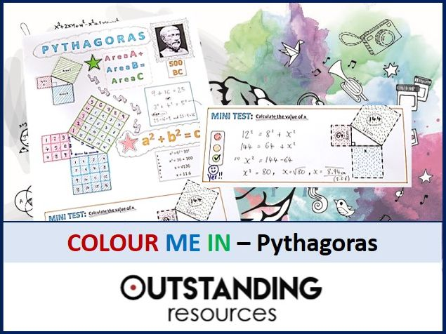 Geometry: Colour Me In Sheets (Doodle Notes) - PYTHAGORAS