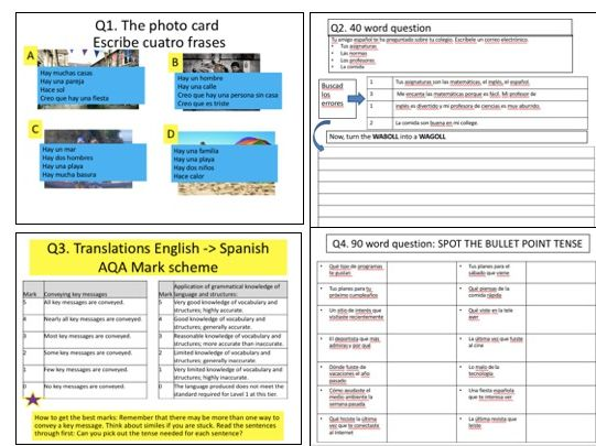 AQA GCSE Spanish (9-1) Foundation Writing Paper: The guide