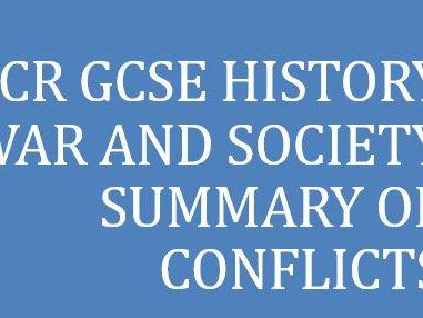 OCR GCSE HISTORY WAR AND BRITISH SOCIETY SUMMARY
