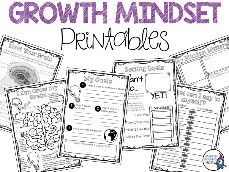 Growth Mindset Activities & Printables