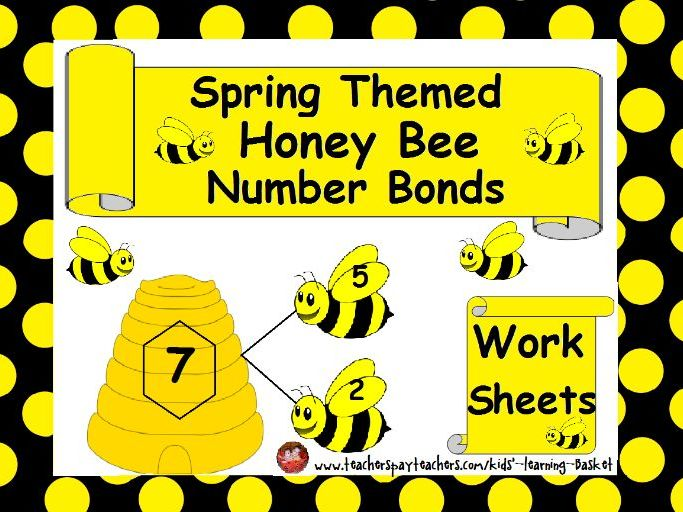 Spring Themed Math, HoneyBee NumberBonds