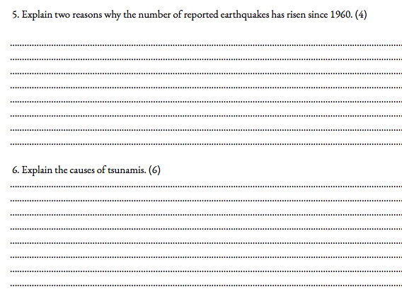 Tectonics Booklet for A level Geography