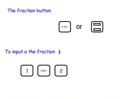 Fractions on a calculator - full lesson