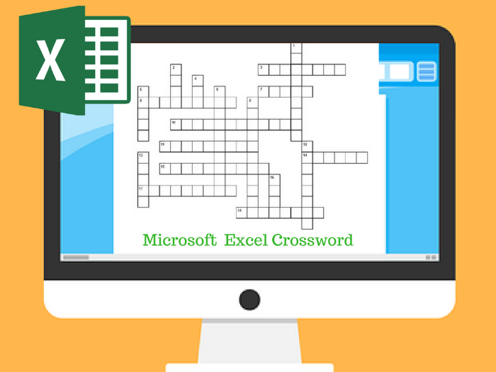 Microsoft Excel Crossword Puzzle
