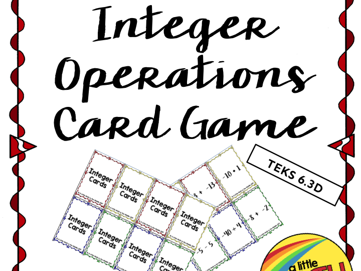 Integer Operations Card Game