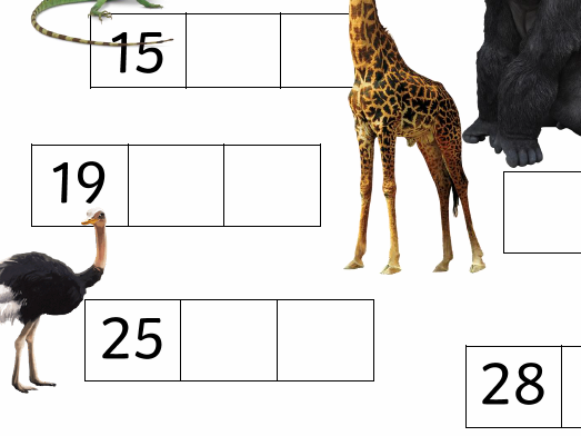 Counting to 30 missing numbers