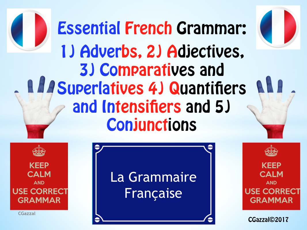 Essential French Grammar - Pack 1.