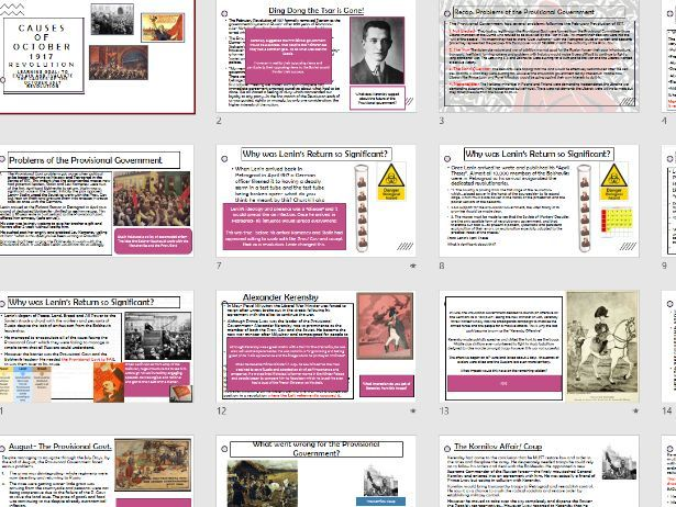 Russia causes of October Revolution