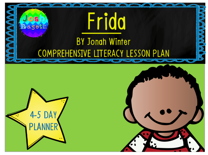 Frida by Jonah Winter 4-5 Day Lesson Planner