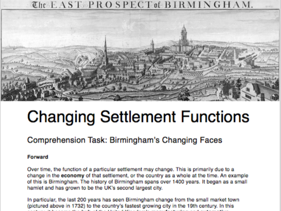 Changing Settlement Functions Homework Assignment