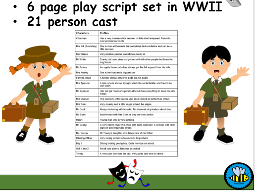 Play script World War II Evacuees