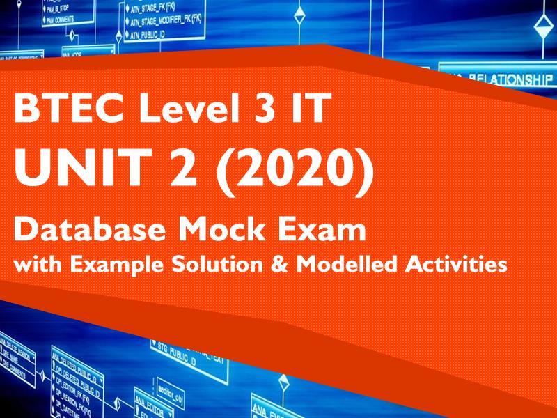 NEW Unit 2 BTEC IT L3 - Database Mock Exam