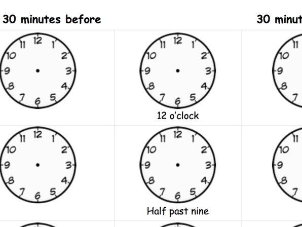 Time o'clock - half past.
