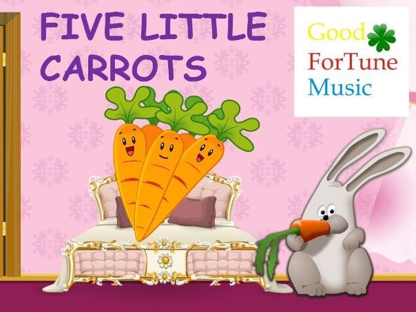 Counting songs - Five little carrots